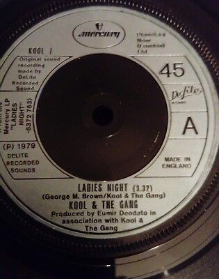 "Kool & The Gang Ladies Night 7"" vinyl single record UK KOOL7 MERCURY 1979"