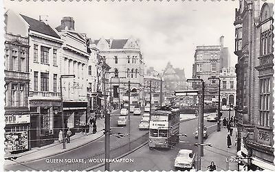Queen Square & Trolleybus, WOLVERHAMPTON, Staffordshire RP