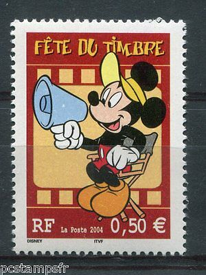 FRANCE - 2004, timbre 3641, DISNEY, MICKEY, FETE DU TIMBRE, neuf**