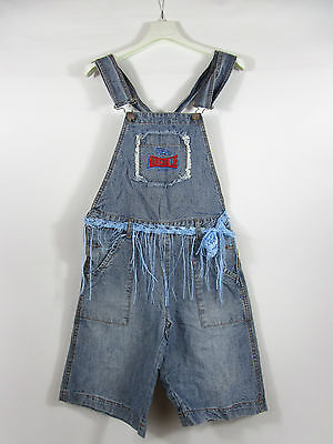Girls Vtg Retro Look Lonsdale Casual Denim Jeans Hip Hop Dungaree sz 12yr AG50