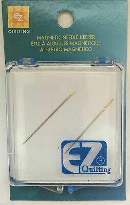 EZ Quilting Magnetic Needle Case Needle Keeper Crafts Sewing Storage + 2 Needles