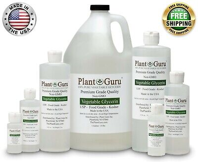 Vegetable Glycerin USP 99.9 % Pure Food Grade VG PG Liquid 1 oz - Gallon Bulk
