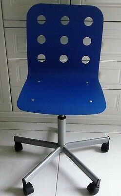 Blue Swivel Height Adjustable Office/computer Chair