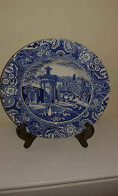Antique blue and white soup bowl by W R Midwinter Landscape pattern plate