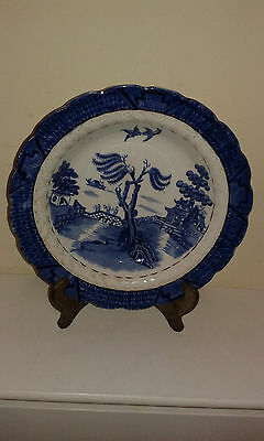 Antique blue and white Booths Real Old Willow shallow dish