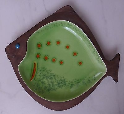 1960's Beswick pottery Plaice/flat fish shallow Dish - shape/model No.2133