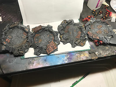 Warhammer 40K Scenery Painted Quake Cannon Craters Space Marine