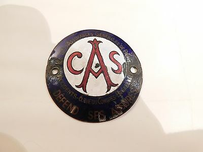 Antique / vintage enamel car badge , paris