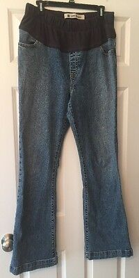 Gap Maternity Long and Lean Denim Blue Jeans Pants Size 14 Demi Panel