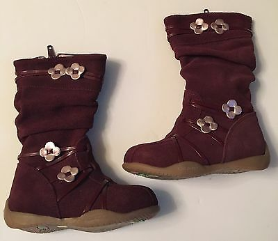 Girls Boots Infant size 5 Burgundy By Adams