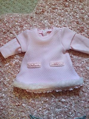 Mayoral 0-2 Month Pink Quilted Dress