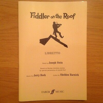 Fiddler on the Roof Libretto Faber Music