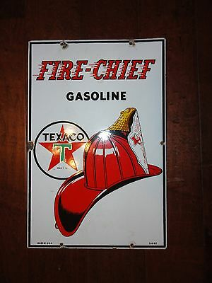 Texaco Fire Chief Pump Plate Dated 3 - 4 - 47