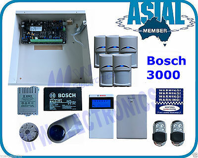 BOSCH ALARM Solution 3000 Kit 16 Zones System 5 PIR 2 Remote Free Programming