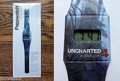 Uncharted 4 A Thief's End Promo Watch - Rare Promotional Pappwatch