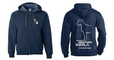 Hungarian Wirehaired Vizsla Dog Breed Hoodie, Dogeria Breed Design.