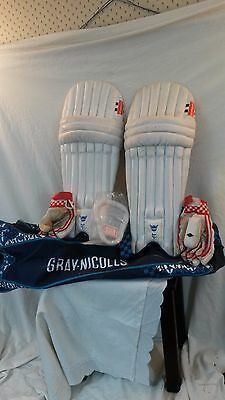 Gray Nicolls Boys Cricket Kit - Left Hand -Pads, Gloves, Abdo Guard, Bag. Used.