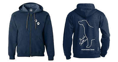 Irish Setter Dog Breed Hoodie, Dogeria Breed Design. Men's & Ladies  sizes