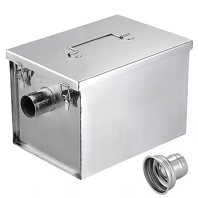 Yescom 8lbs 5GPM Gallon Per Minute Stainless Steel Grease Trap Interceptor