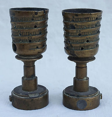 WW1 French Front Superb Pair of Candlestick Munition Fuses Trench Art Infantry