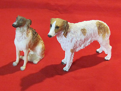 Pair of nicely done resin Borzoi dog figurines
