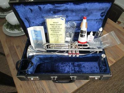 Vintage 1970's King Super 20 Silver Trumpet W/ Case VERY NICE