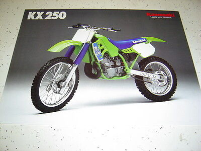 Kawasaki 1989 KX250 - G1 NOS.Sales Brochure 2 Pages.