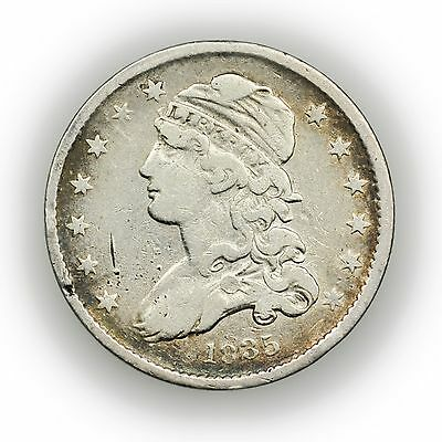 1835 Capped Bust Quarter, Rare, Circulated Silver Coin [3040.24]