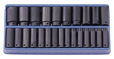 "Genius Tools 25PC 1/2"" Dr. Metric Deep Impact Socket Set - TF-425MD"