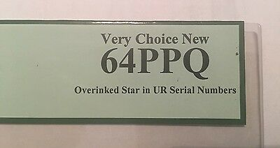 2009 $1 Star ERROR NOTE, Overinked Star. 64PPQ, Very Choice New. Uncirculated!