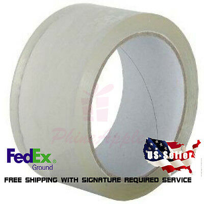 """6 Rolls Box Carton Sealing Packing Packaging Tape 3""""x110 Yards(330' ft) Clear"""