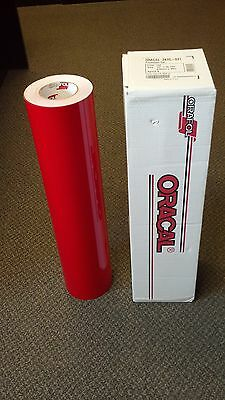 "Oracal 341 1 Roll 24""x50yd(150ft) Red Gloss Sign Vinyl"