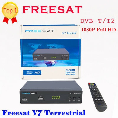 Full HD HDMI 1080P DVB-T2 TV Receivers Freesat V7 Terrestrial DVR MPEG4 LCN AC-3