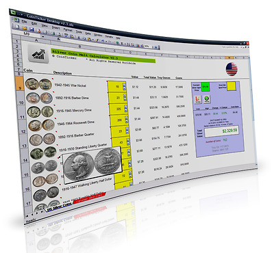 CoinTicker Silver Coin Collecting Software