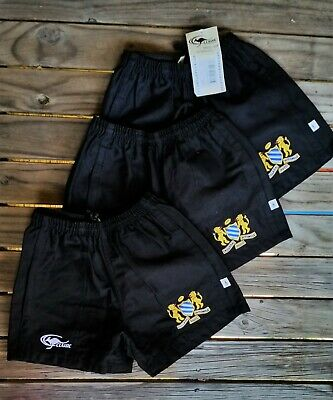 NWT Killara W Pymble RUFC Rugby Union Shorts Boys Size 10 Cotton Classic