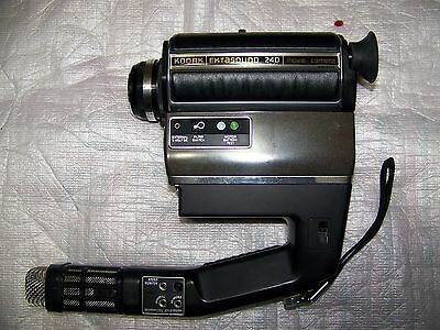 Kodak Ektasound 240 Super 8 Camera, Manual, External Mic ~Working !