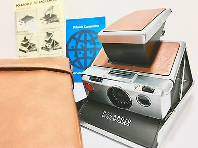 Vintage 1973 Polaroid SX-70 Land camera w/case film tested works perfect.