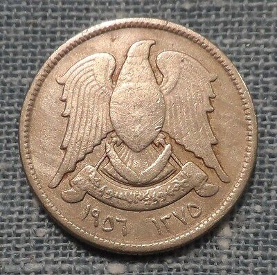 Syria  1956 AH1375   5 Piastres Foreign Coin  KM#82