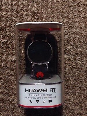 NEW Huawei Fit Smart Fitness Watch Moonlight Silver/Blue Sport Band - Large