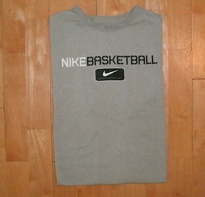 NIKE Men's Athletic PERFORMANCE APPAREL Gray Fitness Workout Basketball XL Shirt