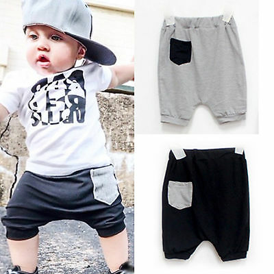 Casual Infant Kids Harem Pants Baggy Trousers Toddler Baby Jogger Shorts 1-5 Y