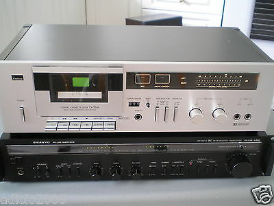 Vintage Sansui stereo cassette deck model D95-M, for repair requires new belt