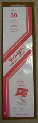 Showgard size 50 clear hingeless stamp mount NEW unopened pack 1st quality 215mm