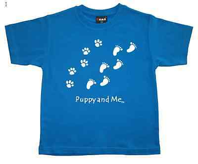 """New Boys T-Shirt """"PUPPY AND ME"""" - Kids Boys or Girls - Tee Top Sizes: 2 & 4"""