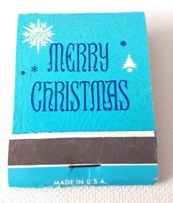 Vintage Matchbook Mrs. Rogers Restaurant Claxton, Georgia GA Merry Christmas