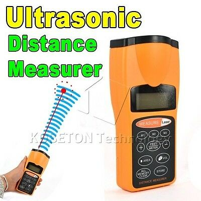 Laser Distance tape measurement length device ultrasonic joiners tool electrical