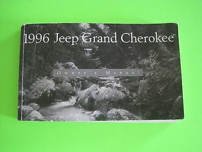 1996 Jeep GRAND CHEROKEE Factory Owner's Manual *OEM*
