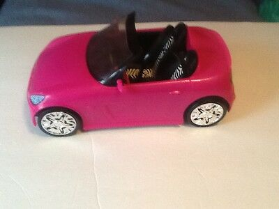 """2009 Barbie """"Hot Pink"""" Roadster Convertible Sports Car by: Mattel"""