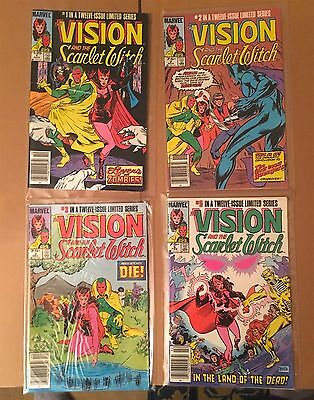 lot of 4 VISION AND THE SCARLET WITCH comics (#1,#2,#3,#5) VF+/NM Marvel 1985