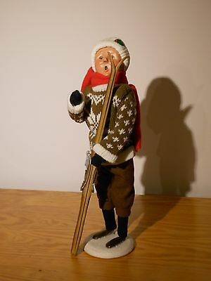 Byers' Choice Woman with Skis caroler